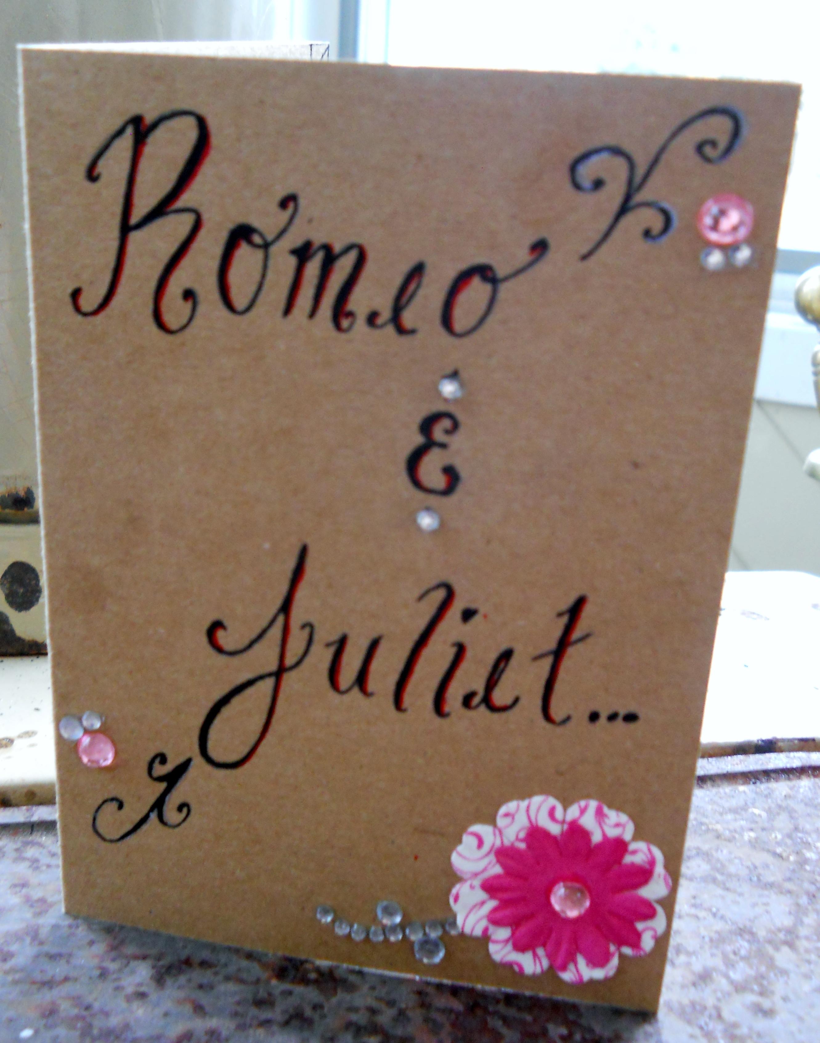 Juliet scrapbook ideas - Outside Romeo Juliet